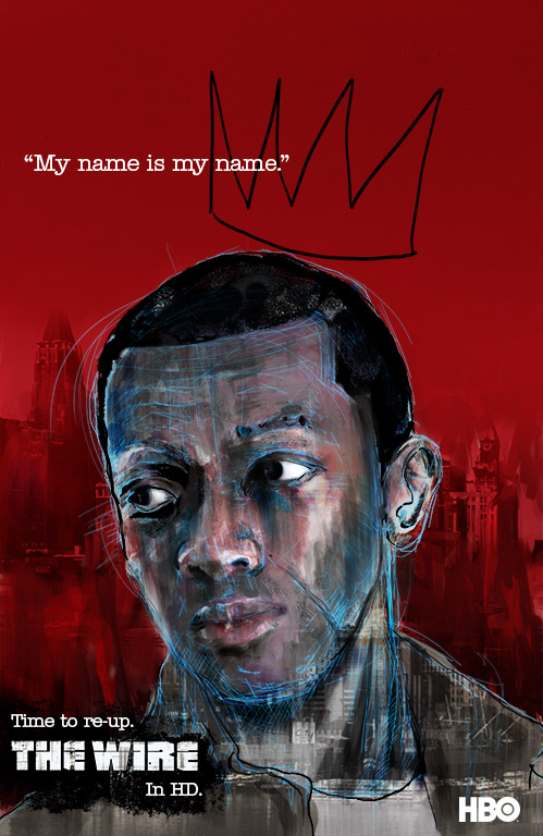 Marlo Stanfield the Wire poster
