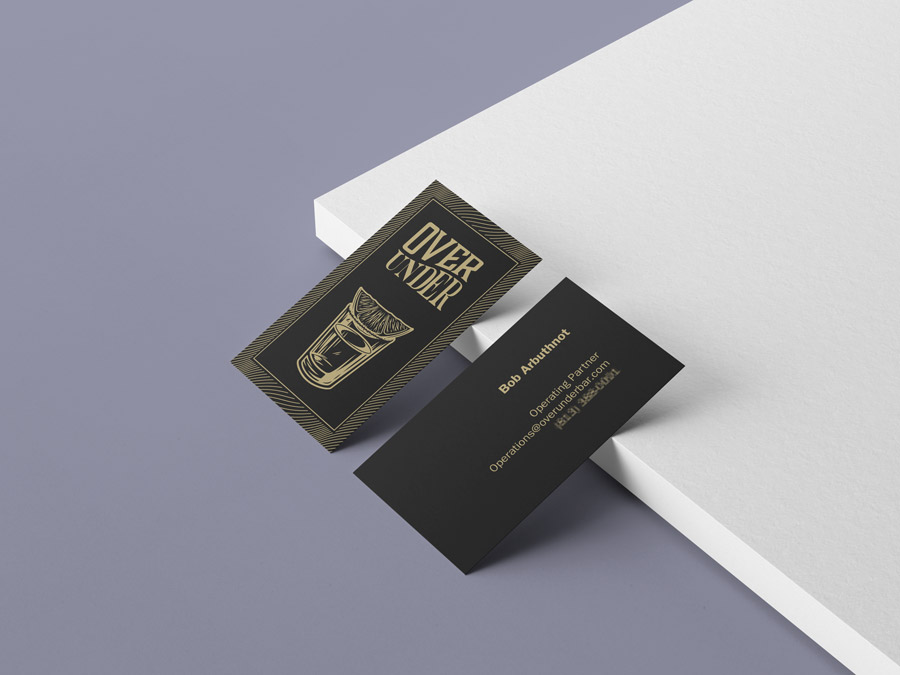 Over Under business cards